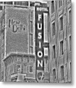 Hotel Fusion Metal Print
