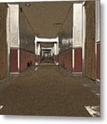Hotel Hallway. Metal Print