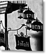 Hotel Sign - Reality And Shadow Metal Print