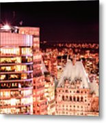Hotel Vancouver And Sheraton Wall Center Metal Print