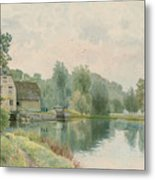 Houghton Mill On The River Ouse Metal Print