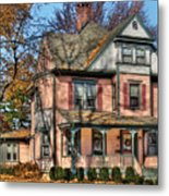House - I Want That Big Pink House Metal Print by Mike Savad