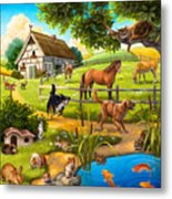 House Animals Metal Print by Anne Wertheim