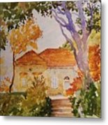 House Beside Mountain Metal Print