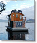 House-boat On The Huan River Metal Print