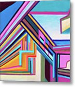 House By The Bay Metal Print