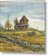 House By The Rock Wall Metal Print