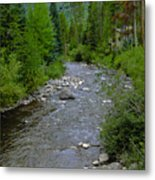 House By The Stream In Vail 2 Metal Print