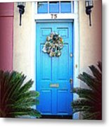 House Door 6 In Charleston Sc  Metal Print