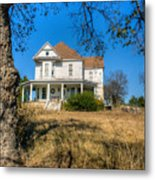 House Framed By Tree Metal Print