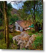 House In China Woods Metal Print