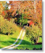 House In The Hills Metal Print
