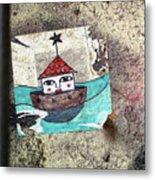 House In The Sea Metal Print