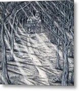 House In The Woods Metal Print