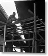 Wooden House Construction Metal Print
