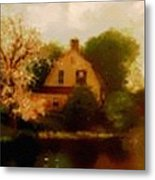 House Near The River. L B Metal Print