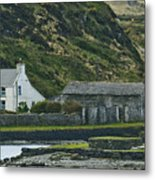 House Near Valencia Island Ireland Metal Print