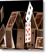 House Of Cards Metal Print by Jan Piller