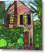 House Of Pink Metal Print