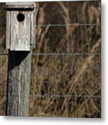 House On A Crooked Fence Post Metal Print