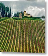 House On A Hill-tuscany Metal Print