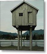House On Stilts, Coal Harbour Vancouver Metal Print