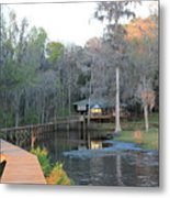 House On The Inlet Metal Print