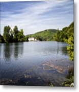 House On The River Bend - South West France Metal Print
