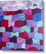 House On Top Of Patchwork Hill Metal Print