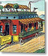 House On Wheels, 1900s French Postcard Metal Print