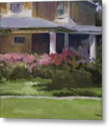 House With Azaleas Metal Print