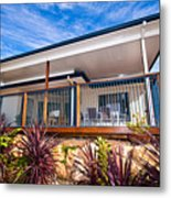 House With Deck Metal Print