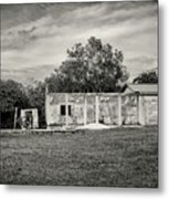 House With Outbuildings Metal Print