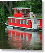 Houseboat On The Mississippi River Metal Print