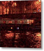 Houseboat On The Seine Metal Print