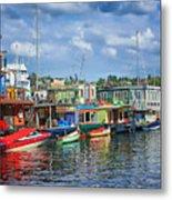 Houseboats - 3 - Lake Union - Seattle Metal Print