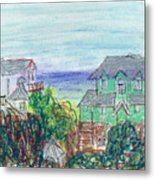 Houses At Whalehead Beach Metal Print