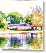 Houses By The Lake 1 Metal Print