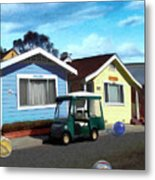Houses In A Row Metal Print