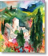 Houses In Montepulciano In Tuscany 01 Metal Print