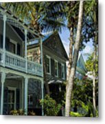 Houses In The Palms  Metal Print