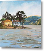 Houses Next To Water Metal Print