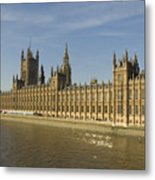 Houses Of Parliament On A Rare Day Metal Print