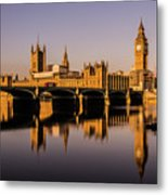 Houses Of Parliament With Westminster Bridge. Metal Print