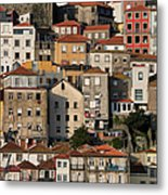 Houses Of Porto In Portugal Metal Print
