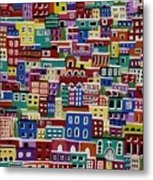 Houses On The Hill Metal Print