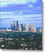 Houston 1980s Metal Print
