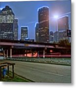 Houston Above Metal Print