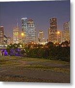 Houston Cityscape1 Metal Print