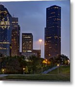 Houston Nighttime Skyline Metal Print